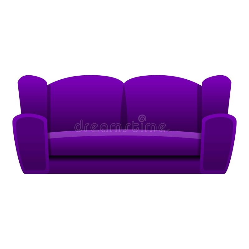 紫色沙发象,动画片样式 皇族释放例证