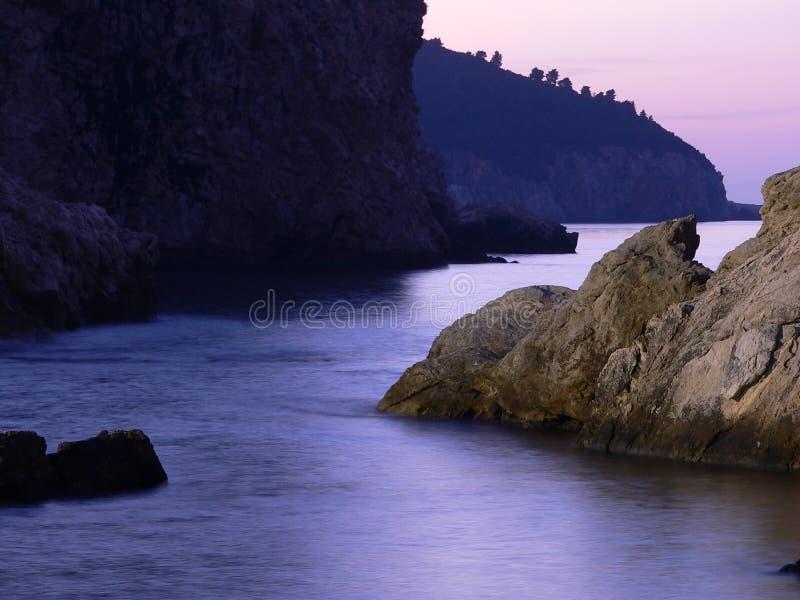 紫色海运 免版税库存图片
