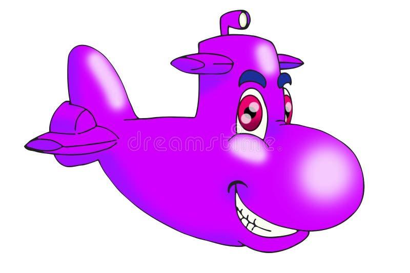 紫色潜水艇 皇族释放例证
