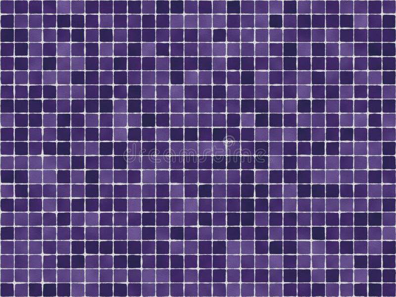 紫色瓦片 库存例证