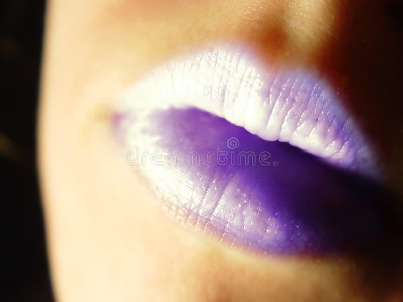 紫色的嘴唇 库存照片