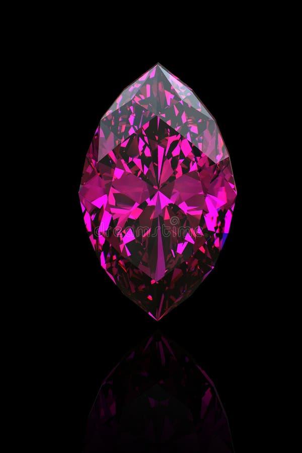 紫色的宝石珠宝候爵 库存例证