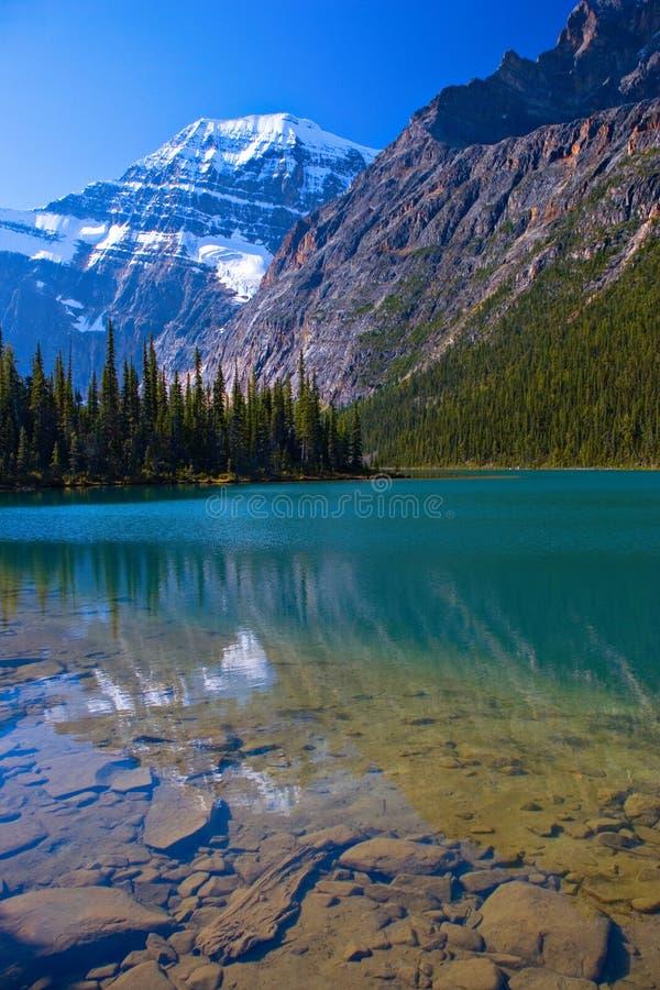 紫色的湖 免版税库存图片