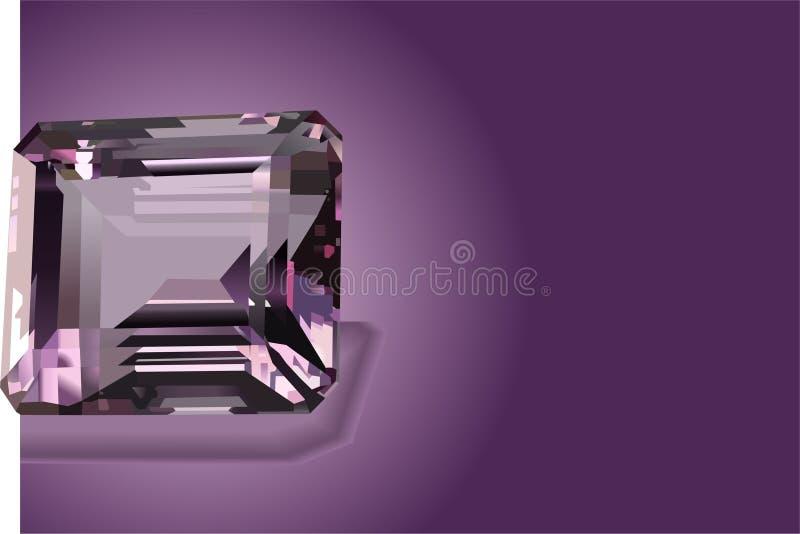 紫色的精采紫色 库存例证