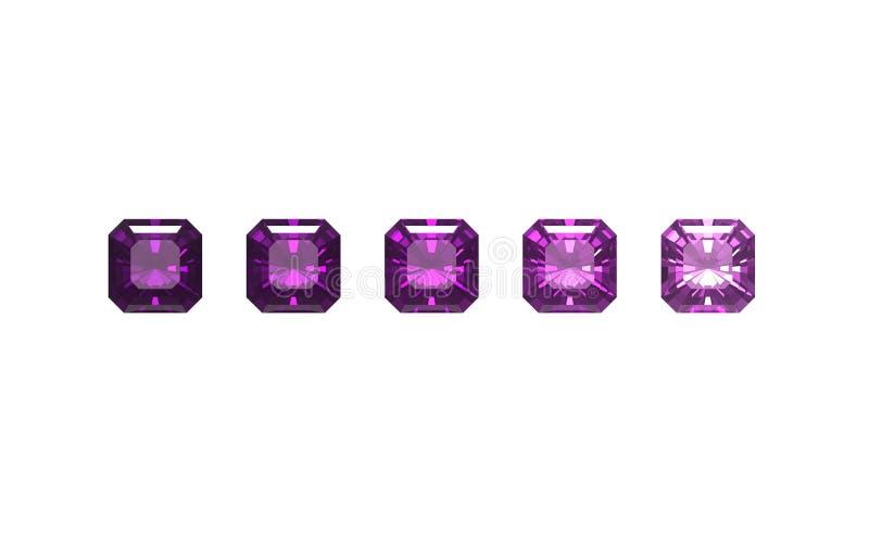 紫色的背景查出的方形白色 库存例证