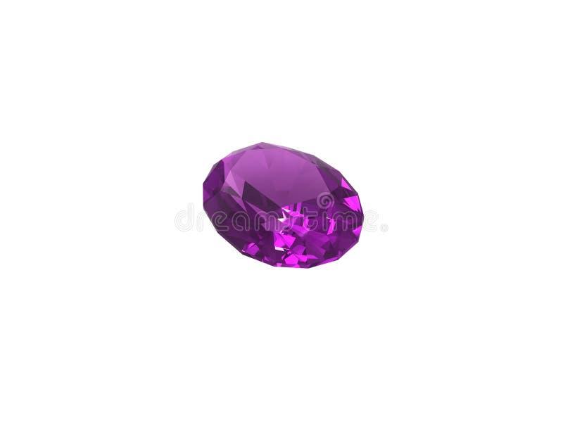 紫色的背景查出的白色 皇族释放例证