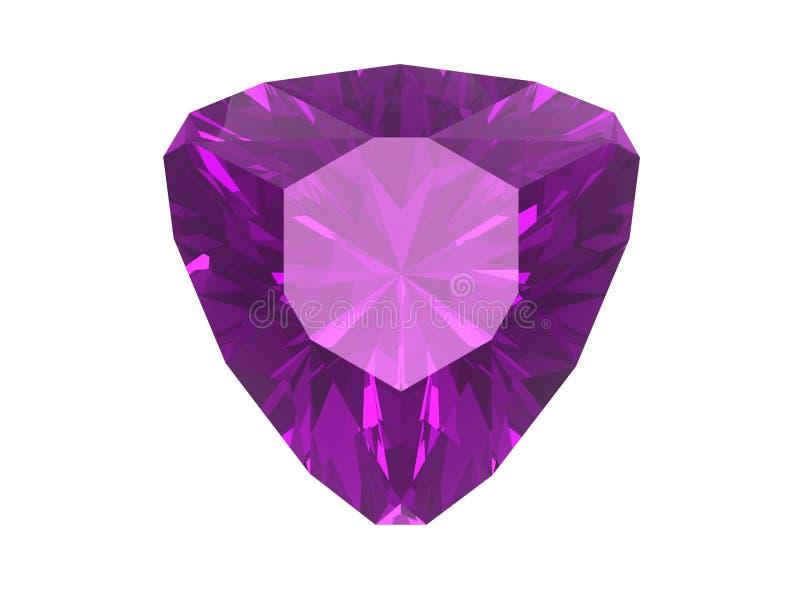 紫色的背景查出的白色 向量例证