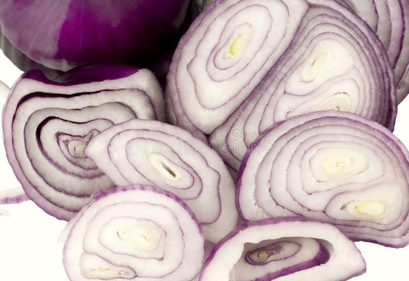 紫色的葱 免版税图库摄影