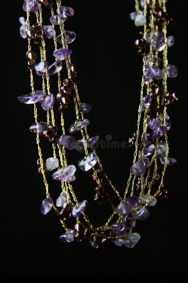 紫色的项链 免版税库存图片