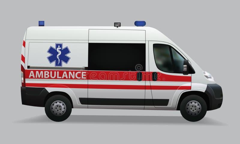 紫色的 特别医疗车 现实图象 下载例证图象准备好的向量 库存例证