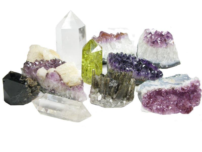 紫色的geode地质水晶 免版税图库摄影