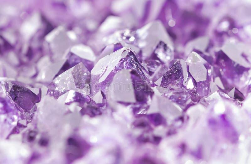 紫色的geode 免版税库存图片