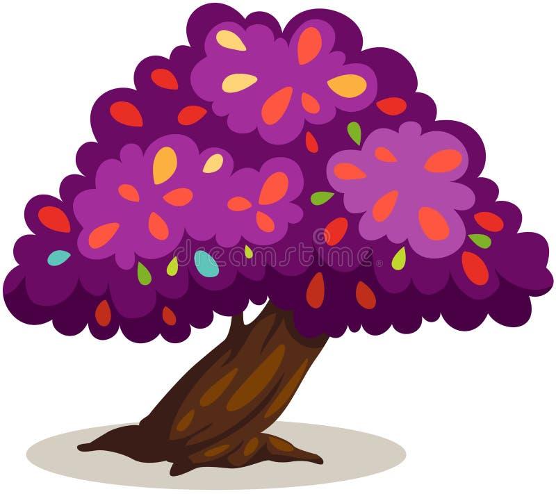 紫色结构树 向量例证