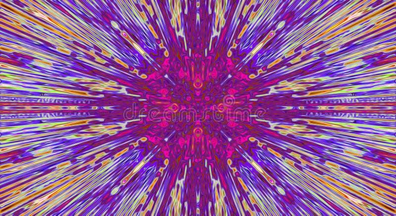 紫色背景,抽象能量光芒焕发,拷贝空间 库存例证