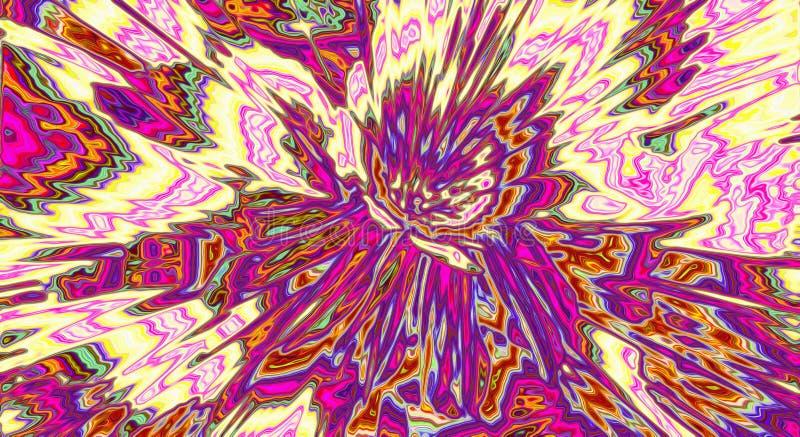 紫色背景,抽象能量光芒焕发,星 向量例证