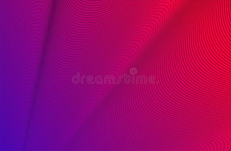 紫色蓝色波浪条纹背景-您的设计的简单的纹理 Eps10?? 皇族释放例证