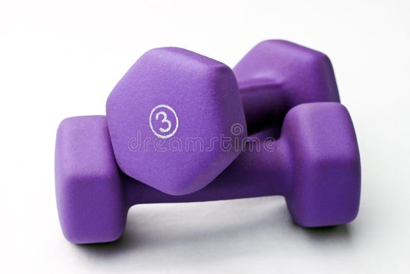 紫色被堆积的重量 库存图片