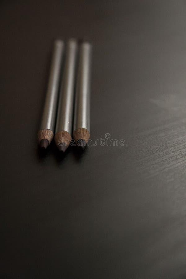 紫色铅笔三片树荫  库存照片