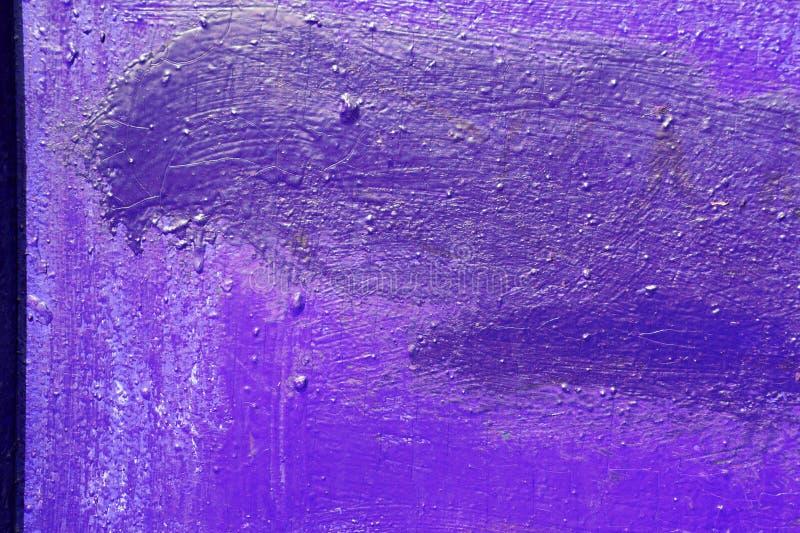 紫色颜色老被绘的墙壁的纹理  E 免版税库存照片