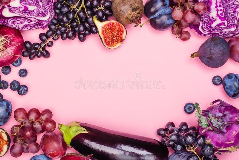 紫色食物的选择 免版税库存图片