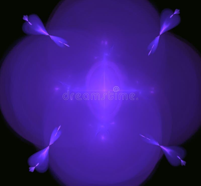 紫色blured发光的分数维背景 幻想分数维纹理 abstact艺术深深数字式红色转动 3d翻译 计算机生成的图象 向量例证