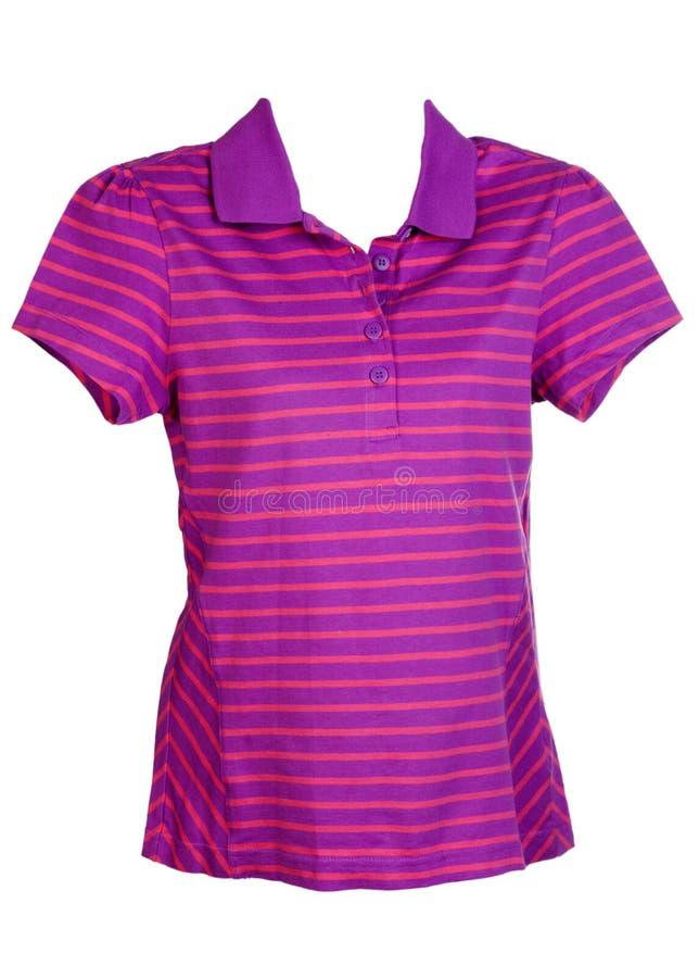 紫色s衬衣炫耀镶边妇女 免版税库存照片