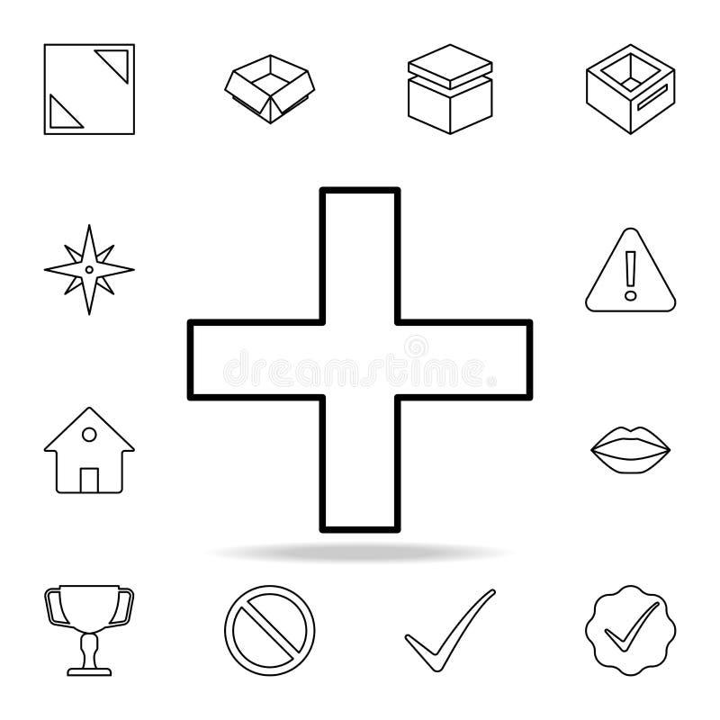累加符号象 详细的套简单的象 优质图形设计 其中一个网站的汇集象,网络设计, 向量例证