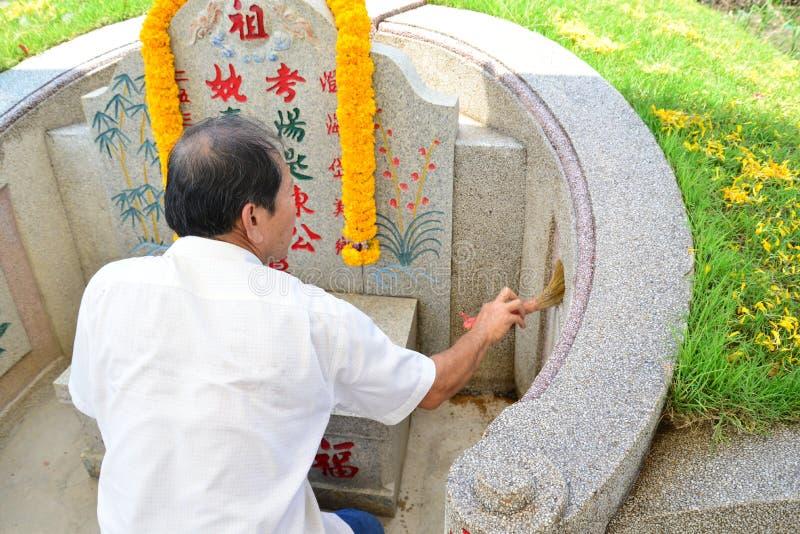 繁体中文坟园 库存图片