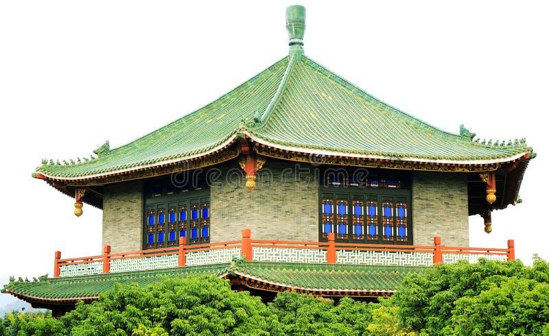 繁体中文房子在古老中国庭院,东亚古典大厦里在中国 库存图片