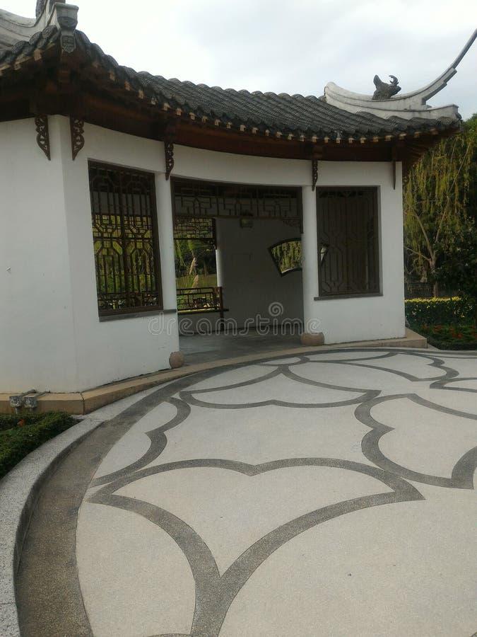 繁体中文样式建筑师 免版税图库摄影