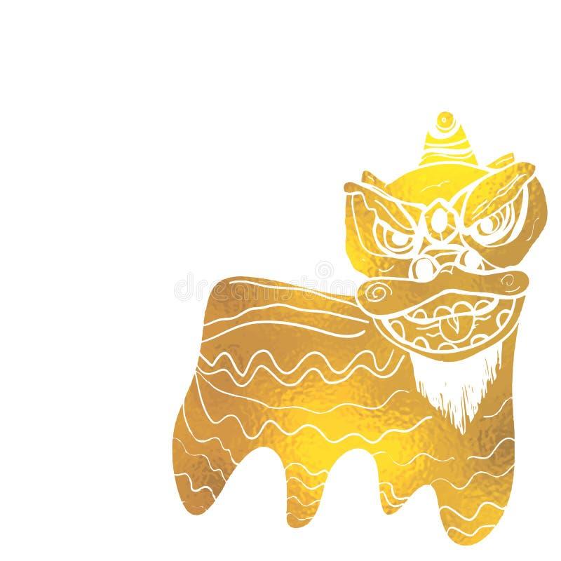 繁体中文舞狮节日背景 免版税库存照片