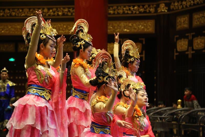 繁体中文舞蹈表现 库存照片