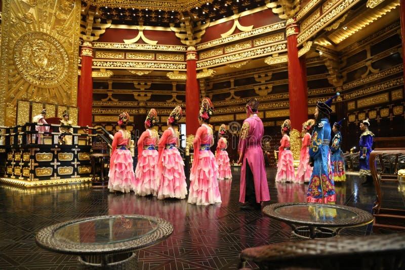 繁体中文舞蹈表现 图库摄影