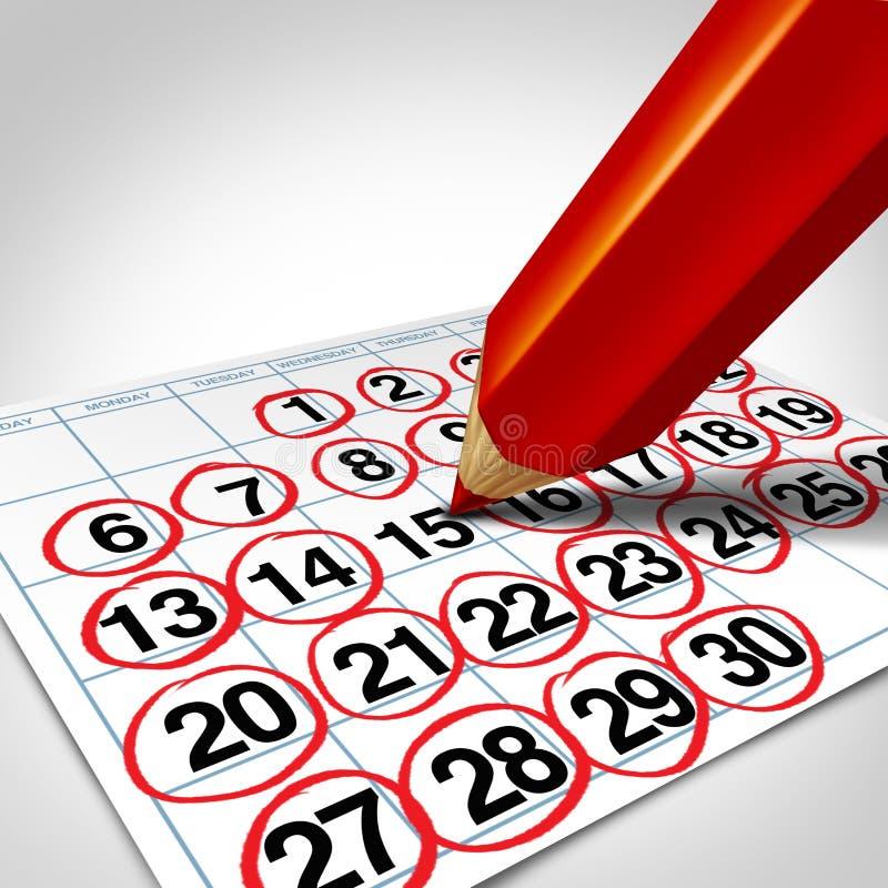 繁忙的企业日程表 向量例证