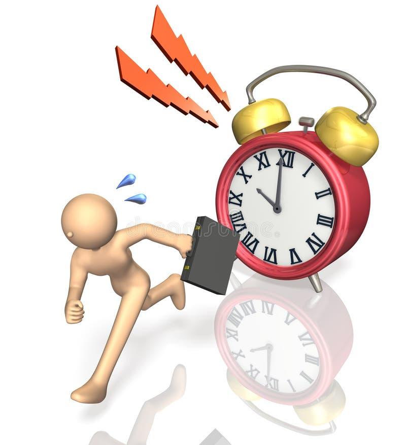 繁忙的商人被急切要求时间。 向量例证