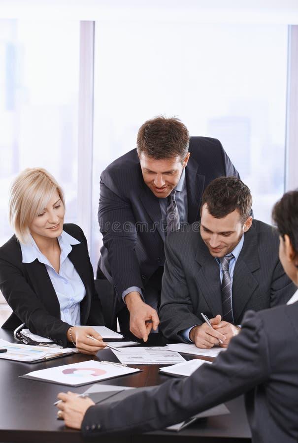 繁忙的商人 免版税库存图片