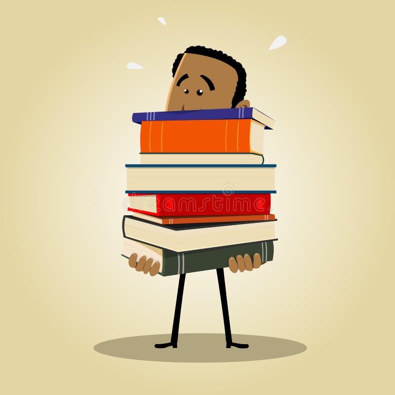 繁忙的图书管理员 库存例证