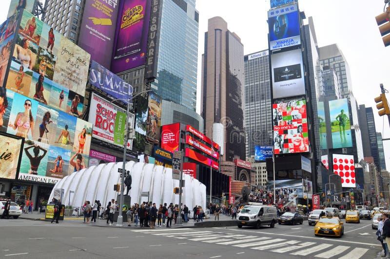 繁忙的时代广场,纽约 库存照片