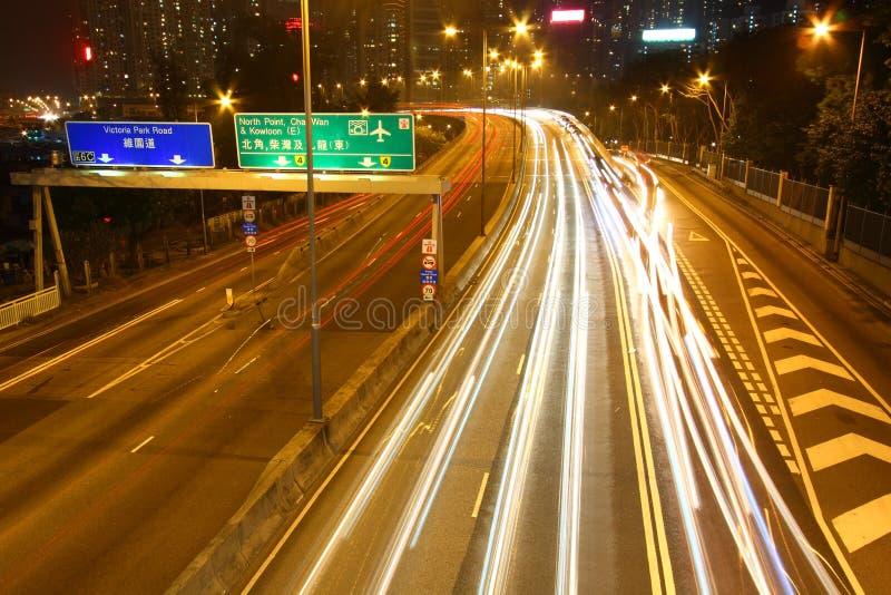 繁忙的街市香港业务量 图库摄影