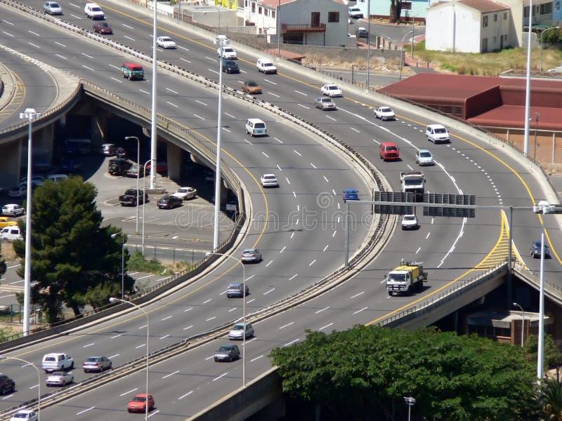 繁忙的高速公路 免版税库存照片