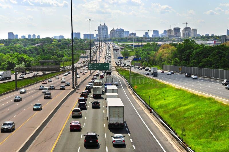 繁忙的高速公路 库存照片