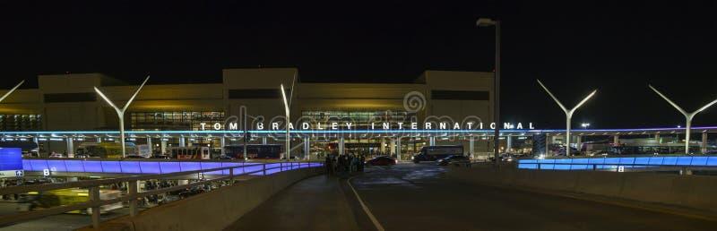 繁忙的洛杉矶国际机场 库存照片