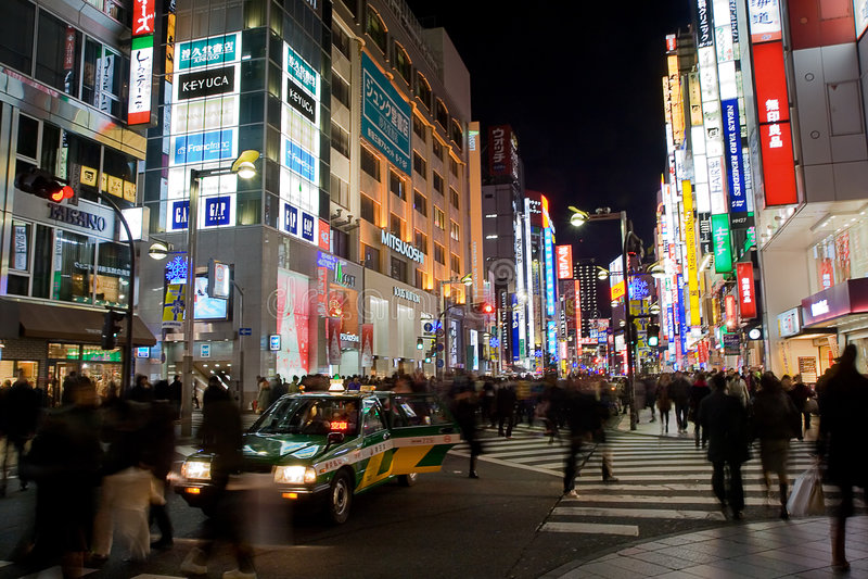 繁忙的shinjuku街道东京 免版税图库摄影