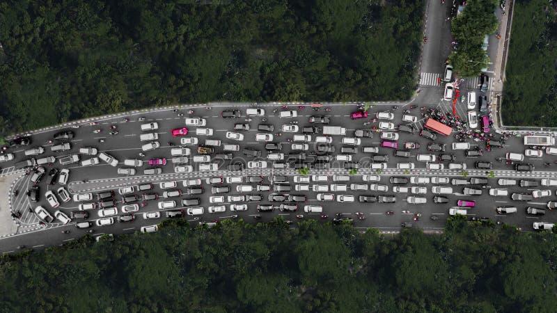 繁忙运输在高峰时间 免版税库存照片