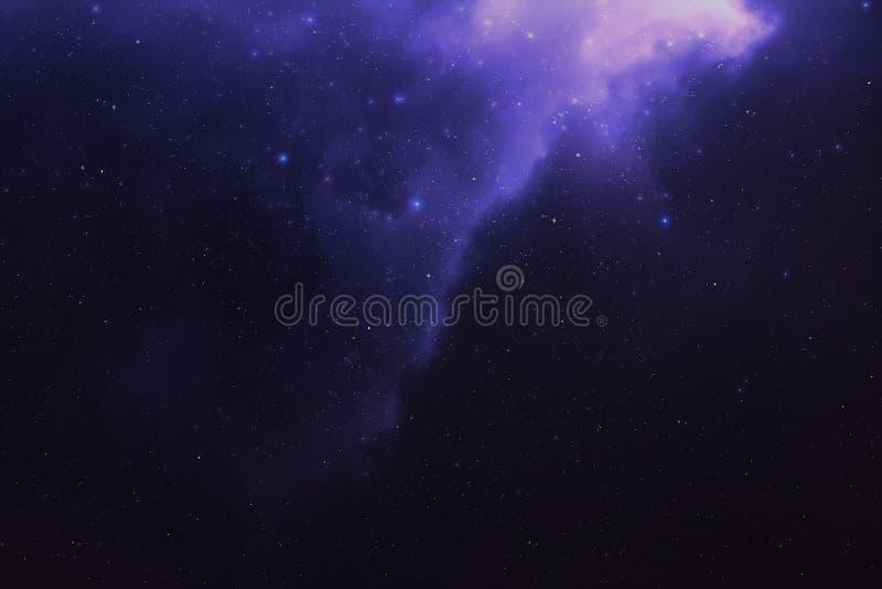 繁星之夜天空星云 库存例证