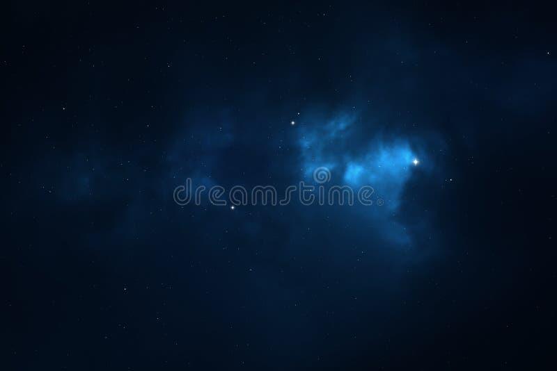 繁星之夜天空空间背景 向量例证
