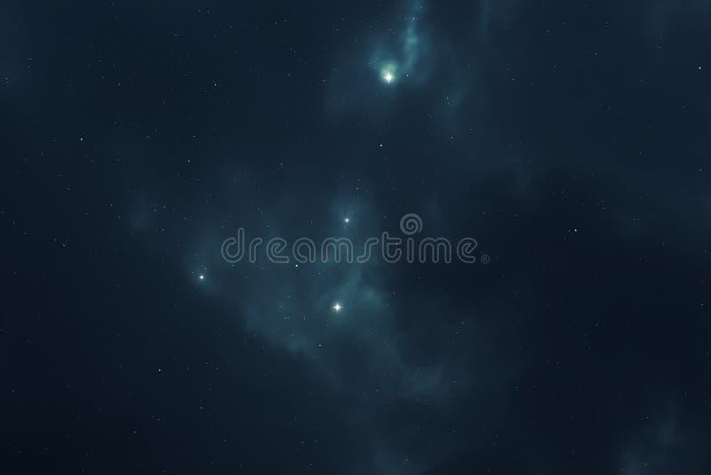 繁星之夜天空空间背景 皇族释放例证