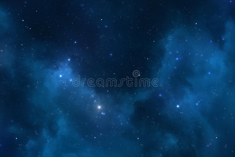 繁星之夜天空空间背景 图库摄影