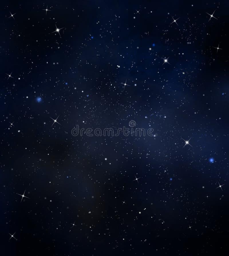 繁星之夜天空 皇族释放例证