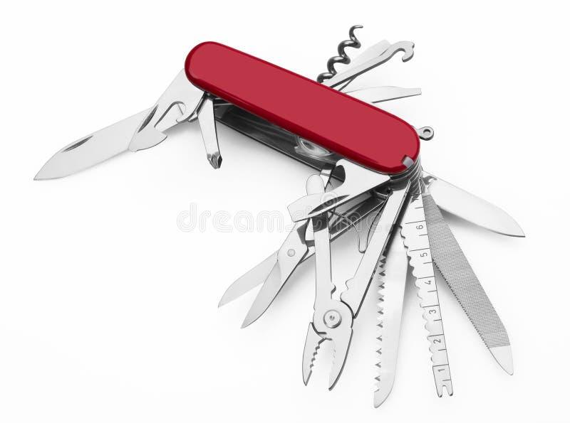 红军刀子多工具 库存例证